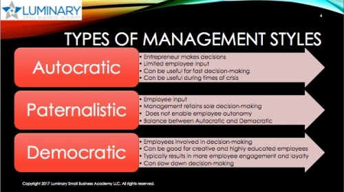 Types of Mgmt Styles